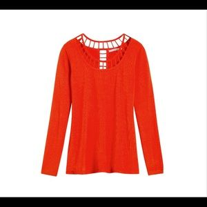 41 HAWTHORN Hana Lattice Detail Pullover-S *G697*